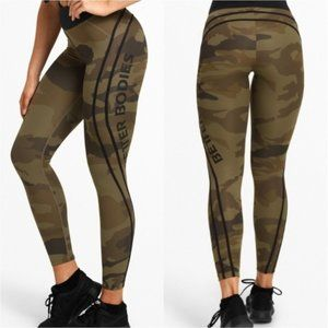 BETTER BODIES Green Camo High Tights
